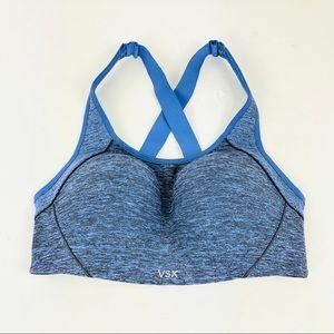 VSX Victorias Secret Sports Bra 32D Blue Padded